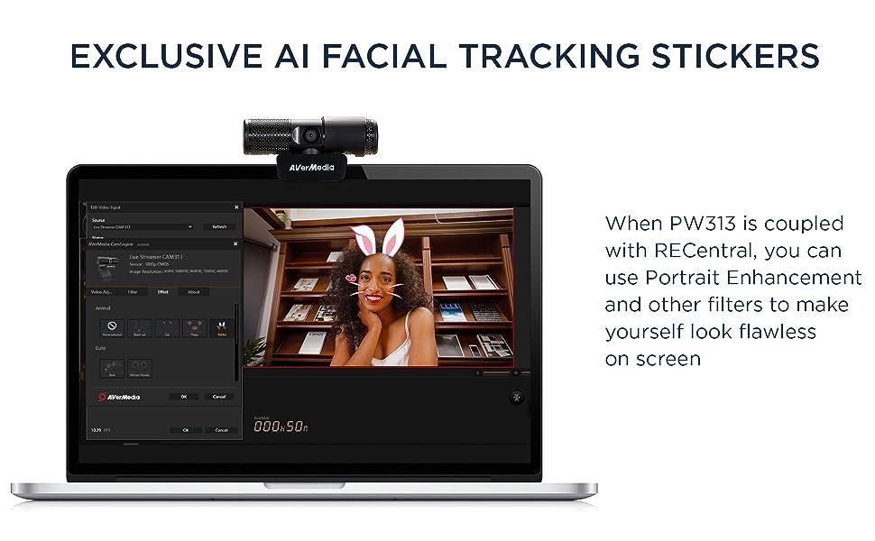 AI facial filter