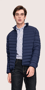 lightweight packable down jacket coat duck feather power proof fill pockets warm light windproof