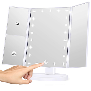 lighted makeup mirror with magnification,make up mirror with lighting