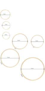 Embroidery Hoops Set Bamboo Circle Cross Stitch Hoop Ring 4 inch to 14 inch for Extra Large