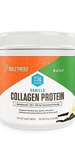 Bulletproof collagen peptides protein vanilla keto grass fed high performance amino acid building