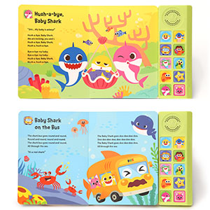 Pinkfong Baby Shark Sound Book Inside Pages