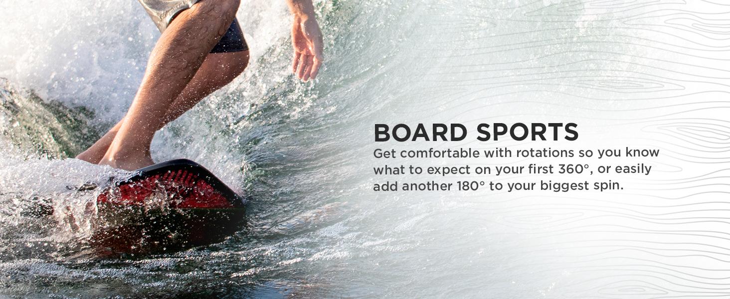 board sport balance training for wakeboarding snowboarding skiing surfing SUP skateboarding