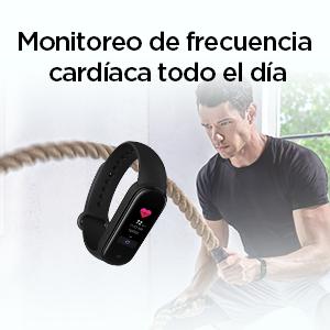 Vigila tu frecuencia cardíaca todo el día.