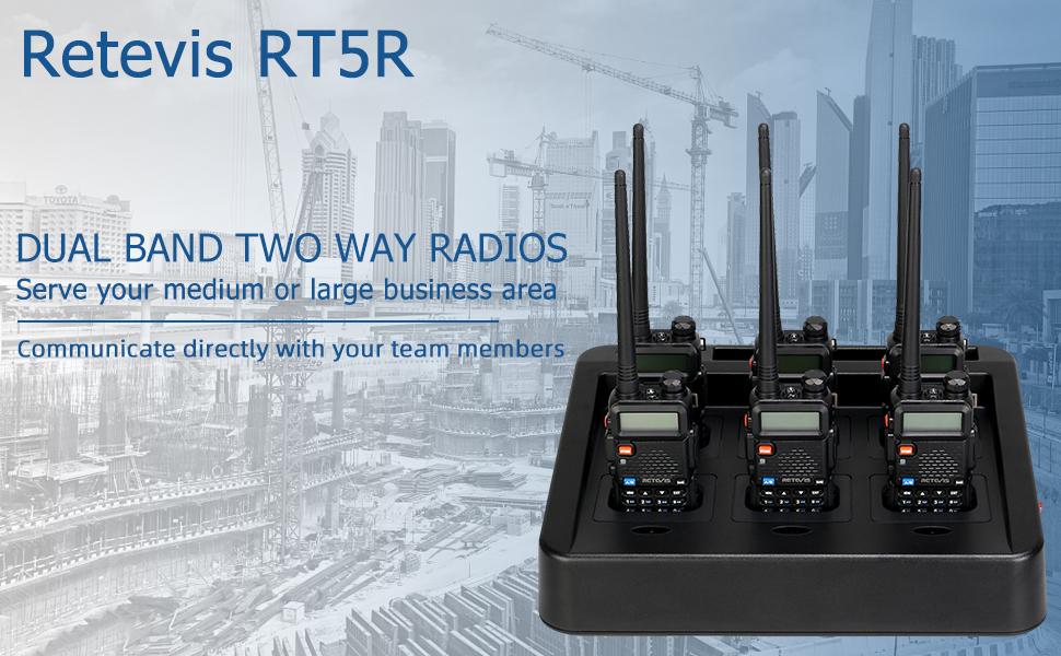 retevis rt5r dual band high power two way radio long range