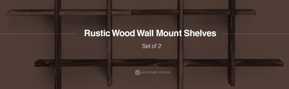 rustic wood wall mount shelves