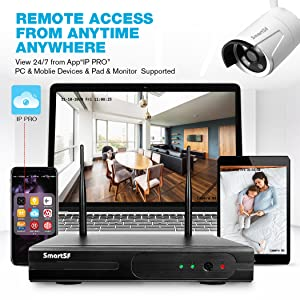 Easy Remote Access on Smart Device Anywhere-wireless security camera system