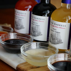 Seven barrel vinegar in a bowl