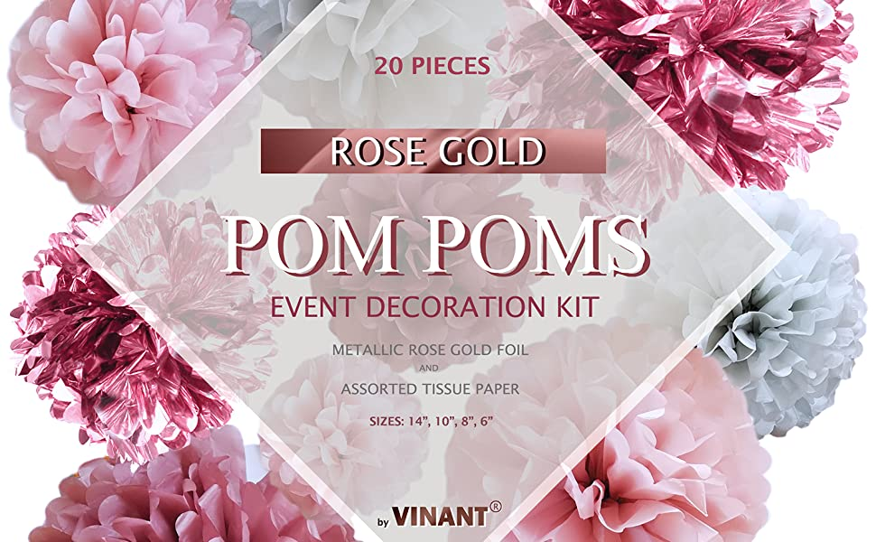 VINANT - Rose Gold Pom Poms