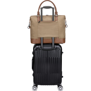 trolly sleeve allows the bag attach to rolling suitcases