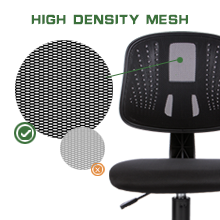 mesh - Novelland Ergonomic Adjustable Back Office Swivel Task Chair, Breathable Mesh Desk Chair With Lumbar Support Swivel Rolling Executive Adjustable Task Chair For Student Kids Study