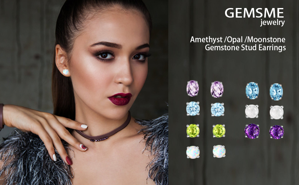 opal stud earrings,moonstone stud earrings,tapoz stud earrings,women jewelry
