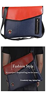 Men's Crossbody bag with fireproof, can store important documents and valuable documents
