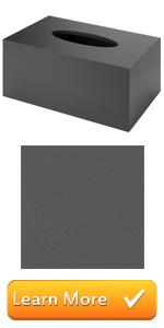 Black Chalkboard Surface Rectangular Wood Tissue Box Holder Cover