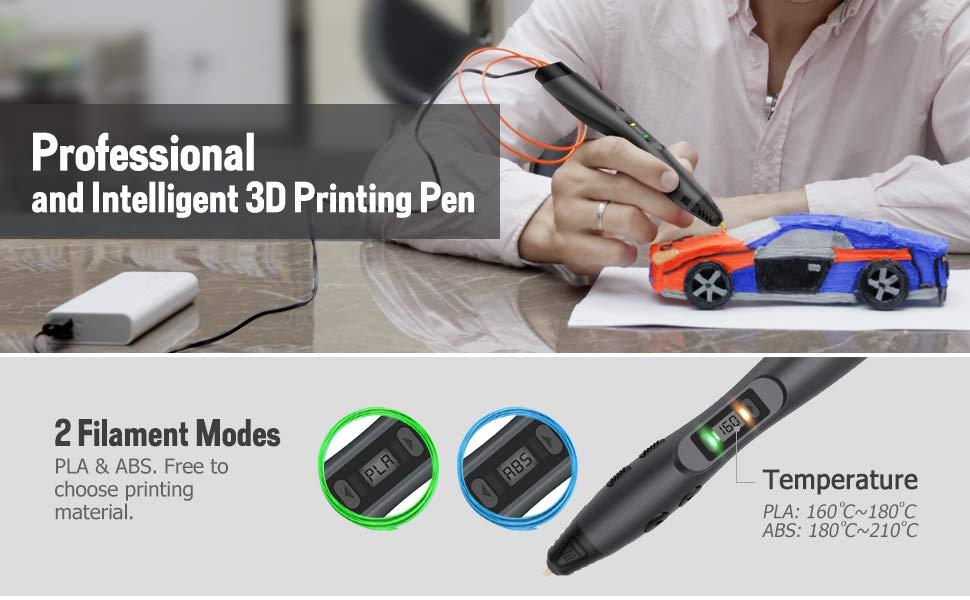 USB Charging LED Display TECBOSS SL300 Intelligent 3D Printing Pen