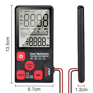 Digital Multimeter 6000 Zählungen Multitester Voltmeter Amperemeter Ohmmeter Ac Dc Spannung Strom Widerstand Dioden Transistor Akustischer Durchgang Mit Lcd Hintergrundbeleuchtung Baumarkt