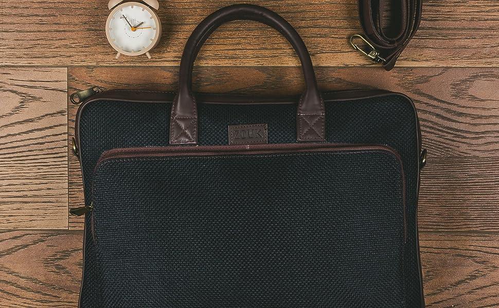 Metallic Zipper, YKK Zipper, Zouk Bags, Vegan Leather, Handbnag, Laptop Bag, Ethnic prints,