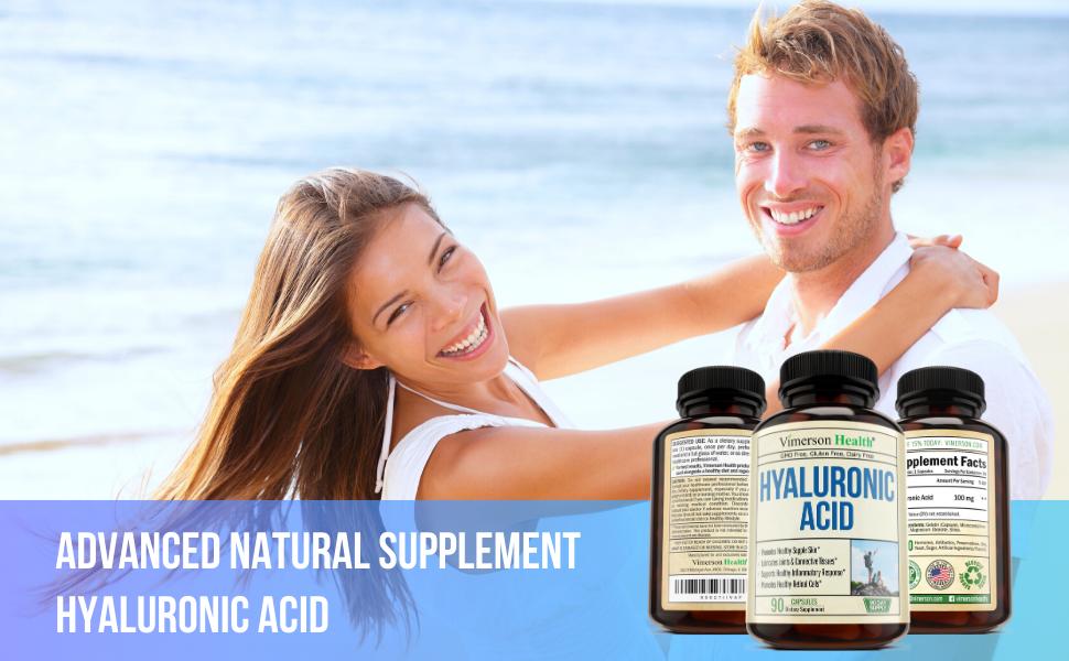 Hyaluronic Acid Vimerson Health Supplement Man Woman Smiling