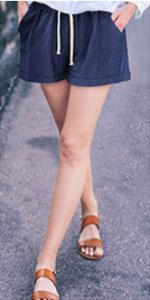 women cotton shorts womens plus size shorts linen shorts women casual shorts for women