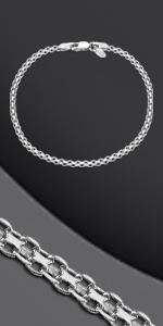 Bracciale a catena in argento Bismark
