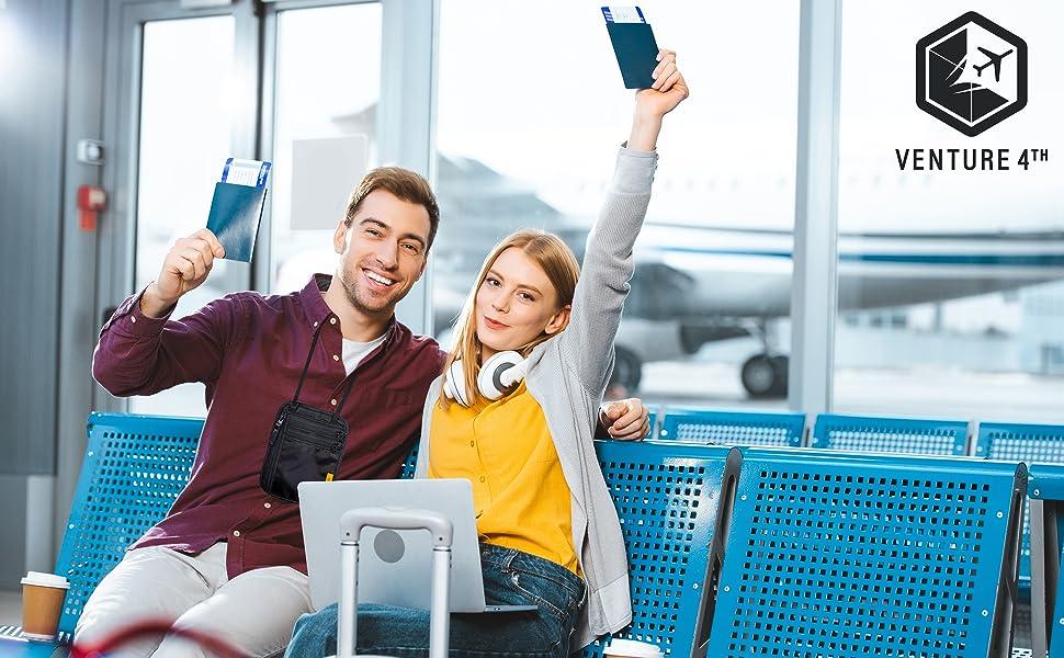 Neck Wallet, Neck Pouch, Passport Holder, Travel Neck Pouch, Travel Wallet, Travel Safety