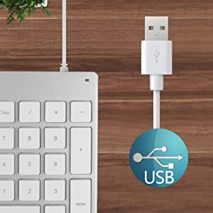USB Wired Keyboard for iMac