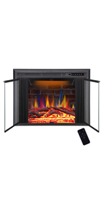 Electric fireplace with Mesh Door