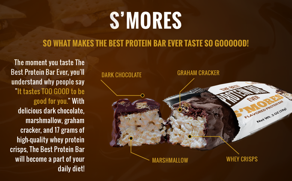 s'mores protein bar
