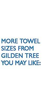 gilden tree towel sizes