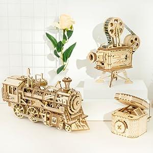 ROKR 3D wooden puzzle mechanical model kit