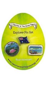 spartan adventures lapel travel pins countries culture national park world