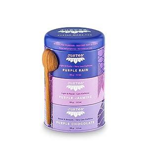 justea purple jasmine chocolate rain tea organic fair trade non-gmo natural organic