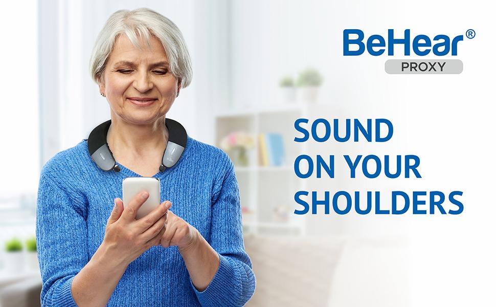 BeHear PROXY, personal TV speaker for seniors, TV Headset