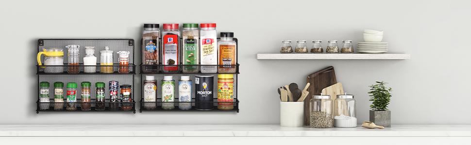 Spice Rack Jars Storage Organizer