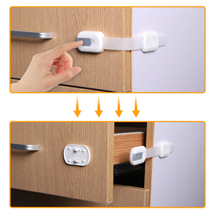 Easy use cabinet drawer straps
