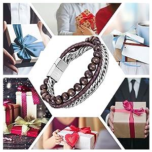 Bead Leather Bracelet