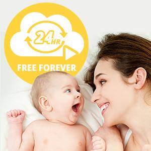 Free 24-Hour Fulltime Cloud Recording