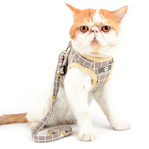 khaki cat harness