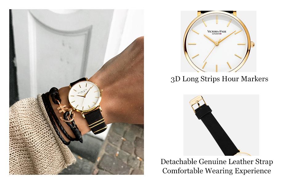 women genuine leather watch