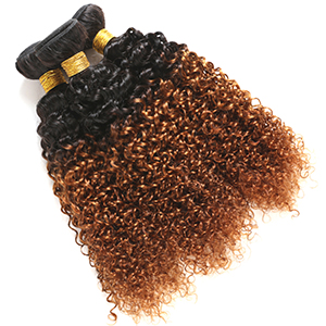 ombre curly human hair bundles