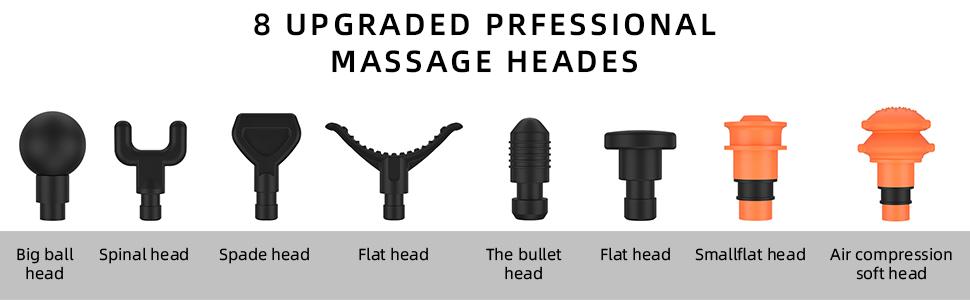 8 Massage Heads