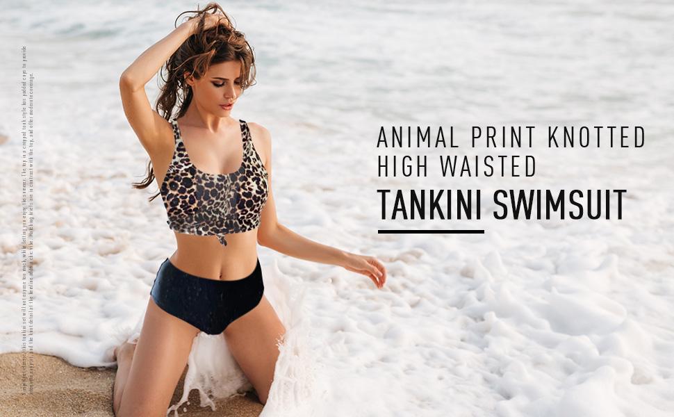 ZAFUL Women's Knotted Front Tankini Set