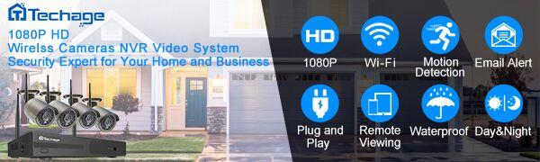 Techage wireless security camera system