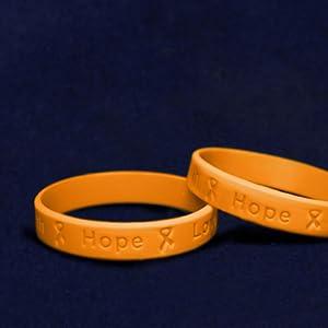 rubber bands for braceletscancer gifts for womencancer awareness pinssilicon wrist braceletsorange