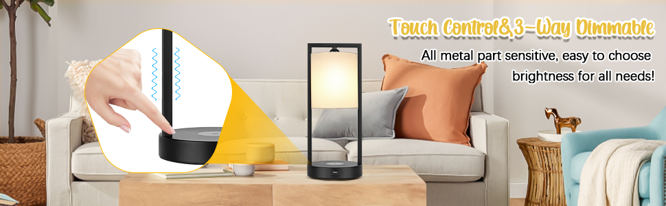 wireless charging nightstand lamps