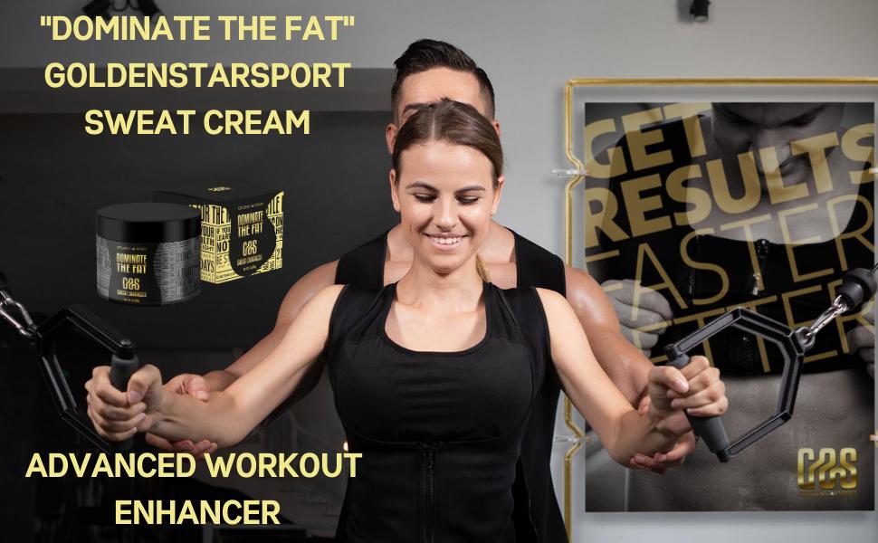 Dominate the fat workout enhancer sweat cream gss goldenstarsport
