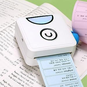 Aibecy Poooli L1 Impresora fotogr/áfica t/érmica de bolsillo 200 ppp port/átil BT Wireless Receipt Label Sticker Maker para plan de trabajo Memo Study Notes Listas Impresi/ón de diarios para Android iOS