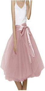 Lisong Knee Length Belt Tulle skirt