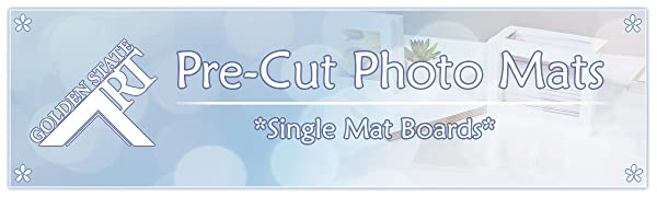 golden state art pre cut photo mat board single mattes
