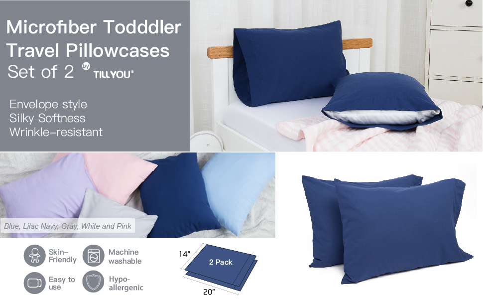 toddler travel pillow cases set of 2
